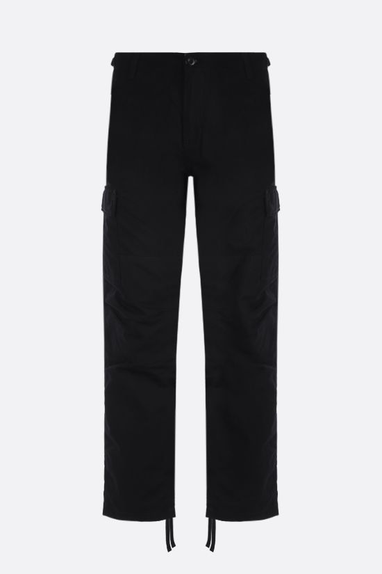 CARHARTT WIP: Aviation cotton ripstop cargo pants Color Black_1