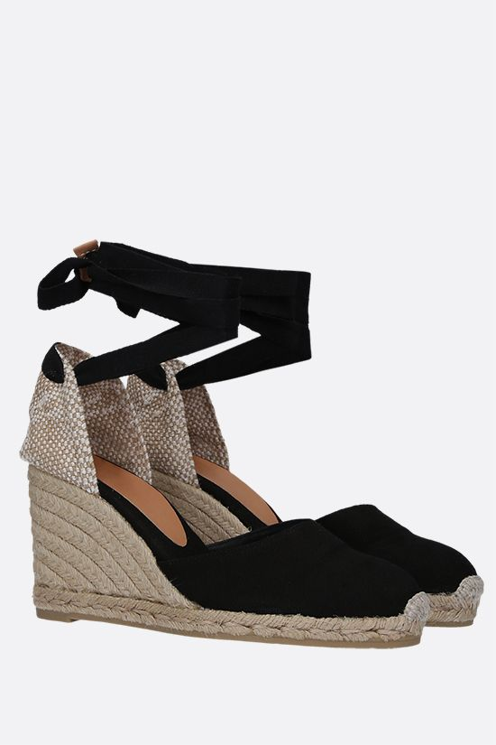 CASTANER: Carina canvas and jute wedge espadrilles Color Black_2