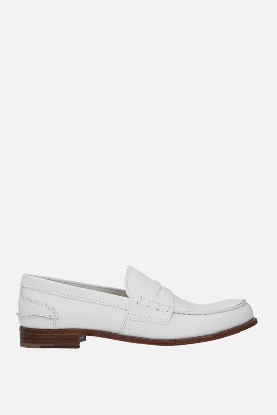 CHURCH'S: Pembrey 2W smooth leather loafers Color White_1