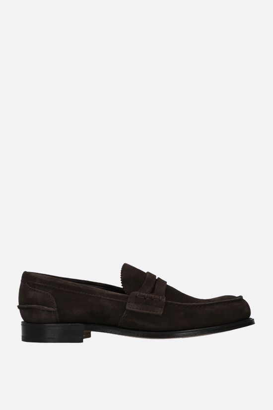 CHURCH'S: Pembrey suede loafers Color Brown_1