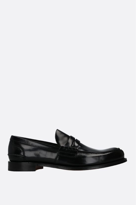 CHURCH'S: Tunbridge shiny leather loafers Color Black_1