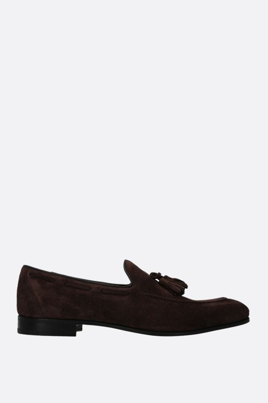 CHURCH'S: Doughton velvet suede loafers Color Brown_1