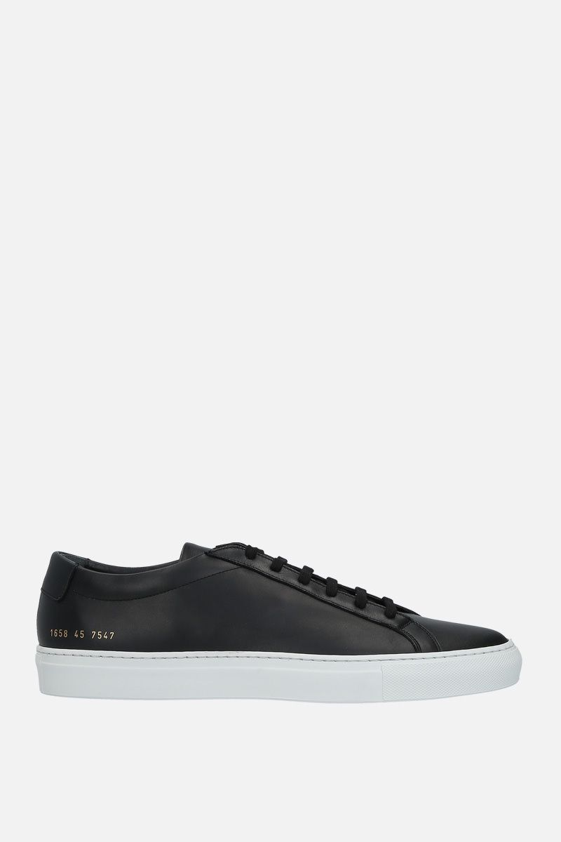 COMMON PROJECTS: Achilles smooth leather sneakers Color Black_1