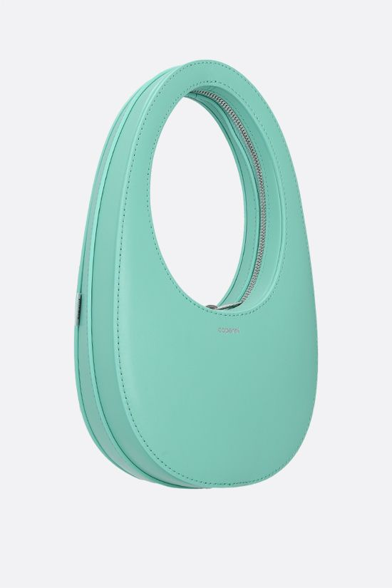 COPERNI: Swipe mini smooth leather handbag Color Green_2