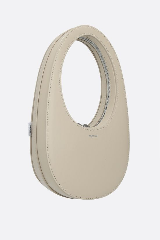 COPERNI: Swipe mini smooth leather handbag Color Neutral_2