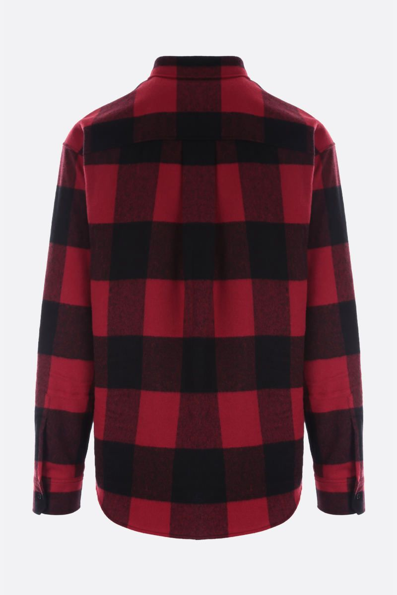 DSQUARED2: Dsquared2 Icon check flannel shirt Color Black_2