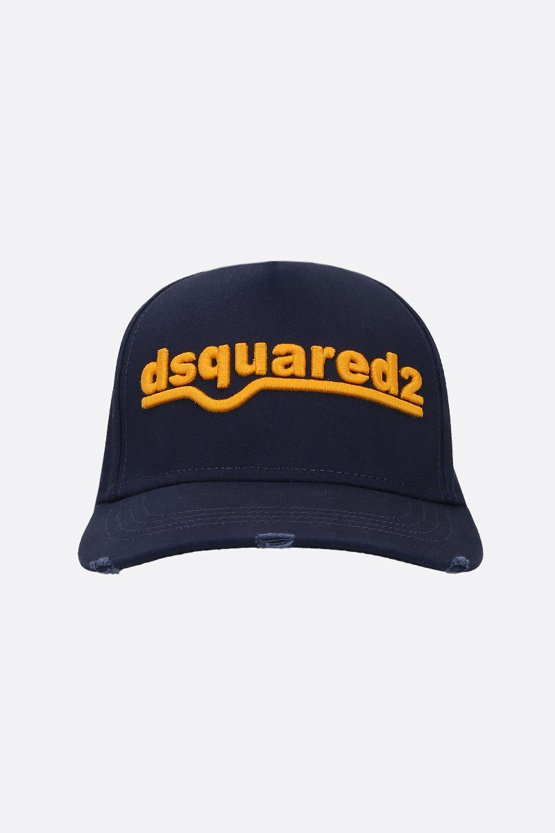 DSQUARED2: dsquared2 embroidered canvas baseball cap_1