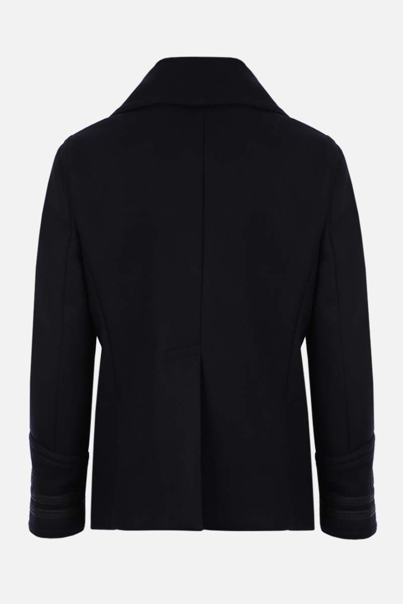 DSQUARED2: double-breasted wool blend coat Color Blue_2