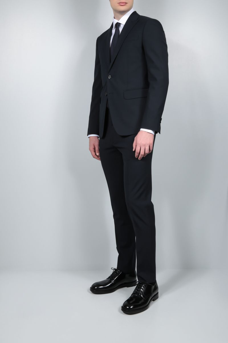 DSQUARED2: stretch wool two-piece suit Color Blue_2