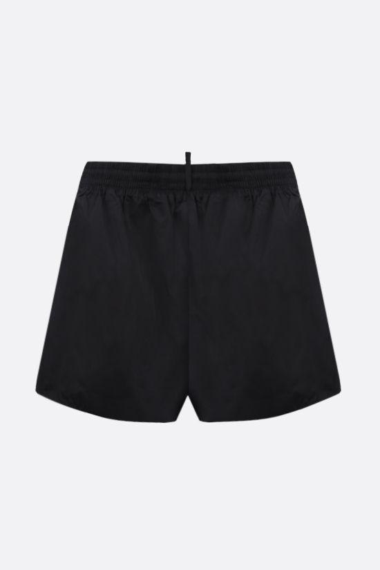 DSQUARED2: logo print nylon swim shorts Color Black_2
