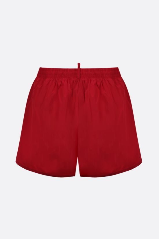 DSQUARED2: Canadian Leaf print nylon swim shorts Color Red_2