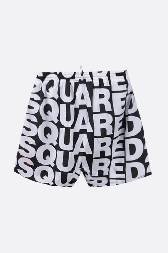 DSQUARED2: Multi Logo nylon swim shorts Color Black_2