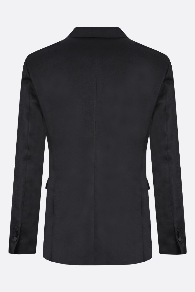DSQUARED2: textured satin single-breasted jacket Color Black_2