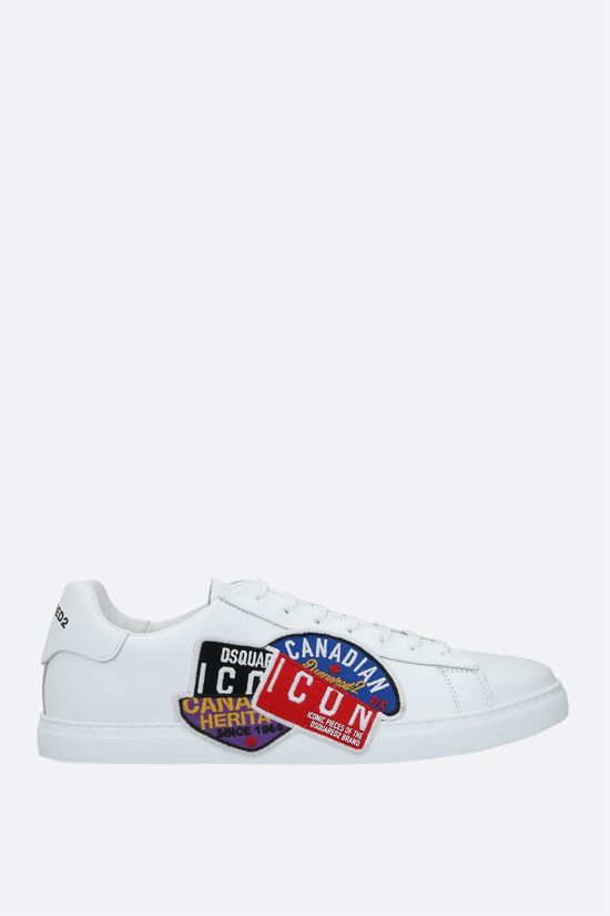 DSQUARED2: New Tennis smooth leather sneakers Color Multicolor_1