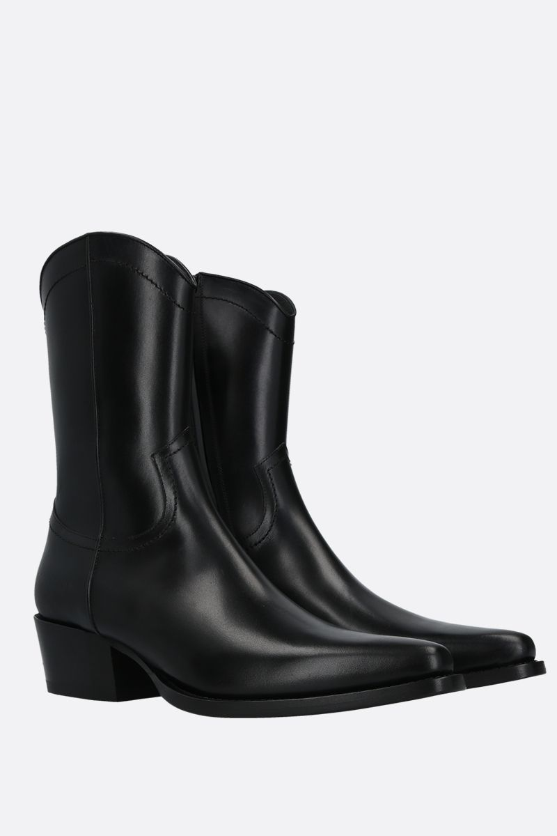 DSQUARED2: shiny leather western boots Color Black_2