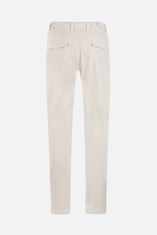 ELEVENTY: herringbone stretch cotton slim-fit pants Color Neutral_2
