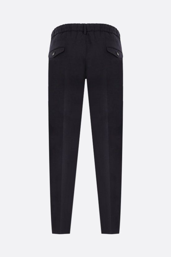 ELEVENTY: slim-fit stretch wool pants Color Blue_2