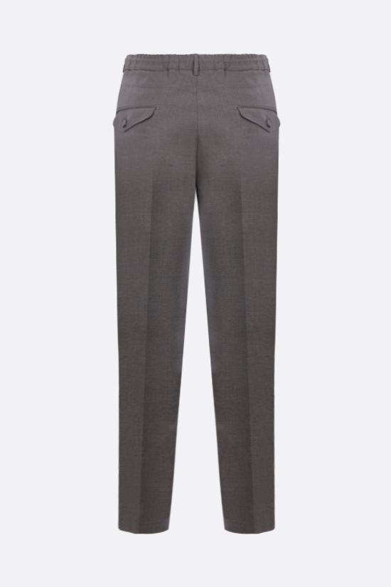 ELEVENTY: slim-fit stretch wool pants Color Grey_2