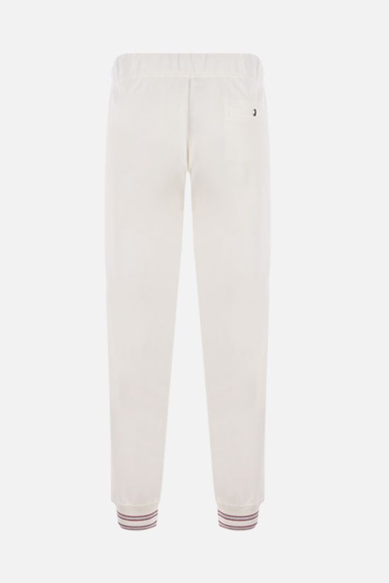 ELEVENTY: stripe-detailed piquet joggers Color White_2