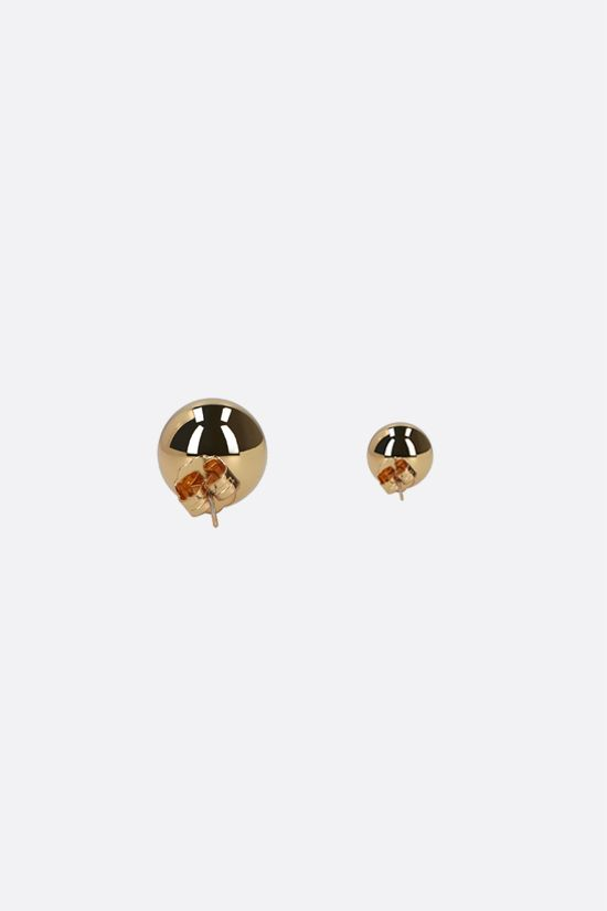 FEDERICA TOSI: Lobo Amber brass earrings Color Gold_2