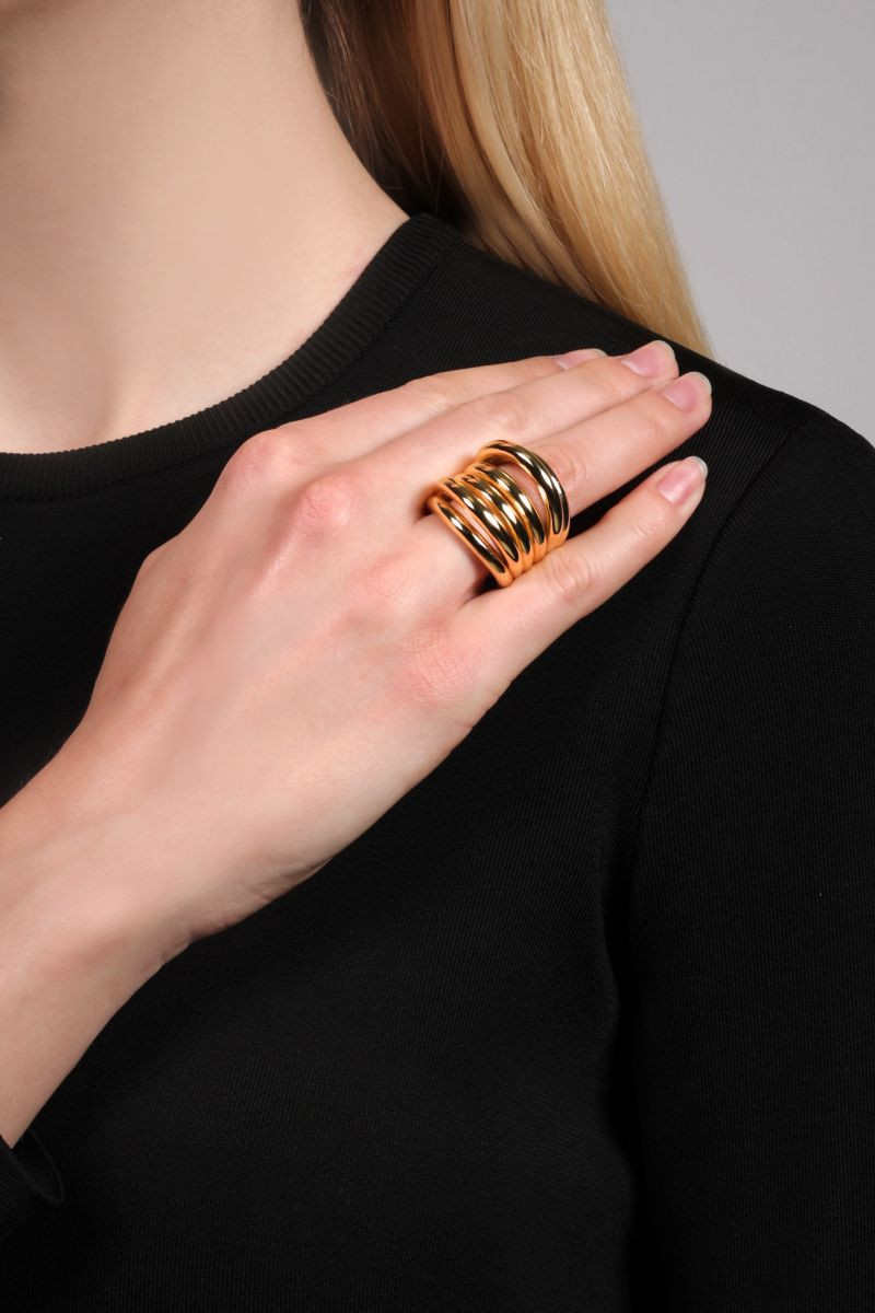 FEDERICA TOSI: Ale bronze ring Color Gold_2