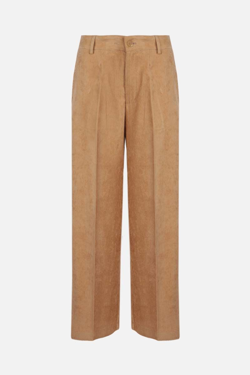 FORTE FORTE: ribbed velvet wide-leg pants Color Neutral_1