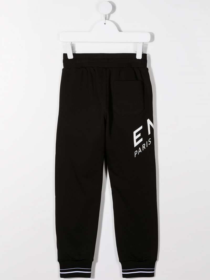 GIVENCHY KIDS: pantalone jogging Givenchy Refracted in jersey Colore Nero_2