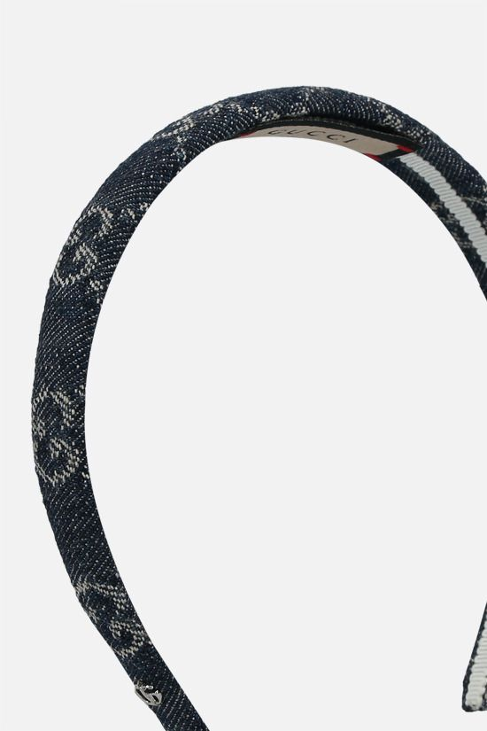 GUCCI: GG denim headband Color Blue_2