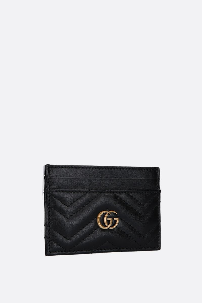 GUCCI: GG Marmont quilted leather card case Color Black_2