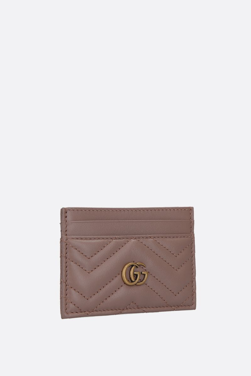 GUCCI: GG Marmont quilted leather card case Color Pink_2
