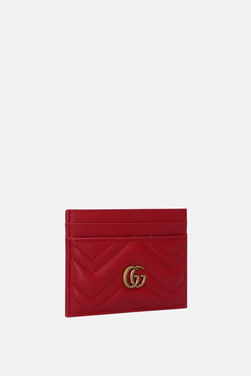 GUCCI: GG Marmont quilted leather card case Color Red_2