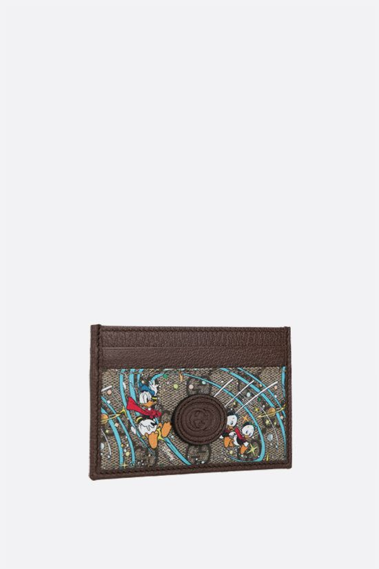 GUCCI: porta carte Donald Duck Disney x Gucci in canvas Colore Multicolore_2