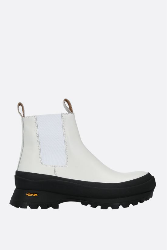 JIL SANDER: smooth leather chelsea boots Color White_1