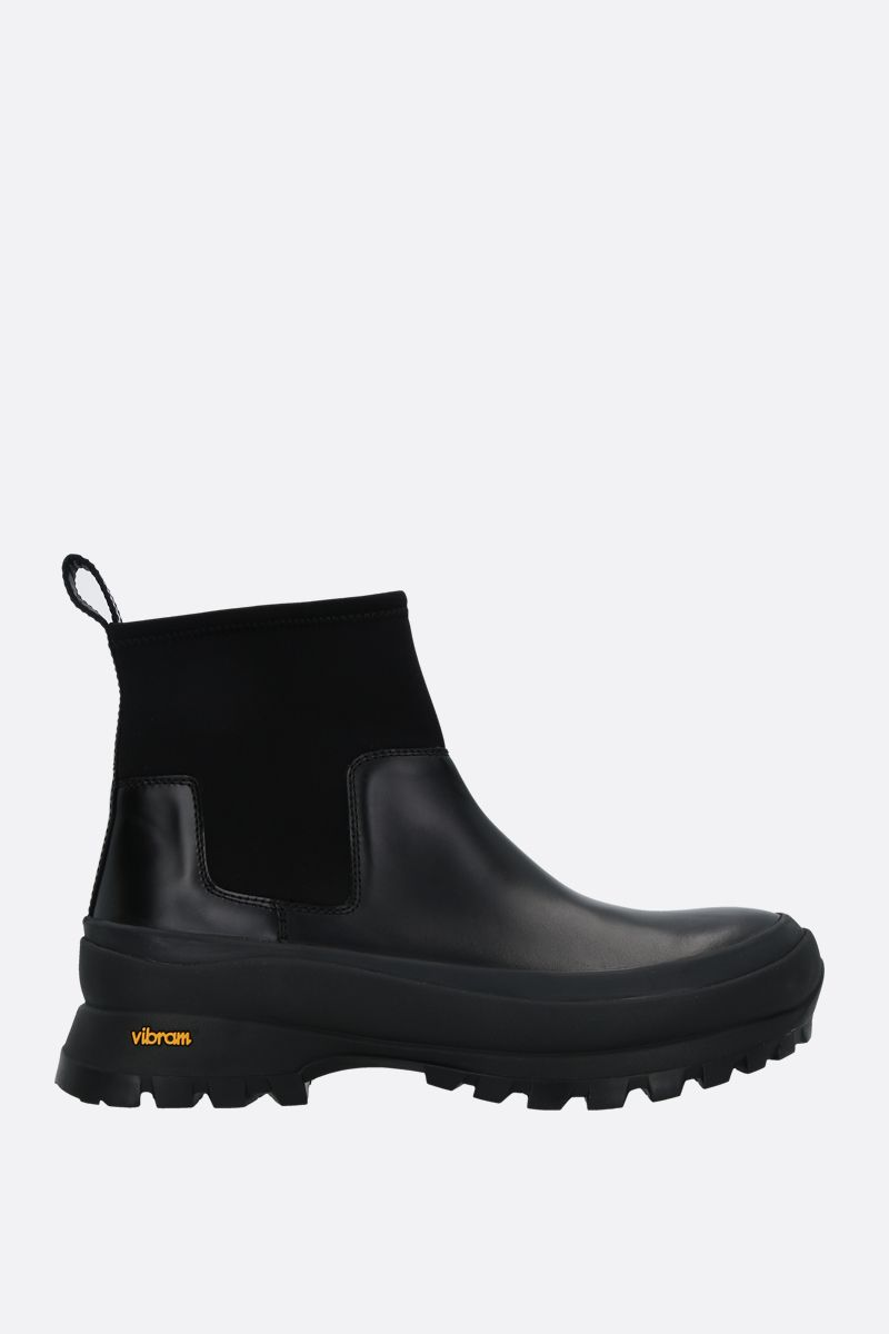 JIL SANDER: shiny leather rainy boots Color Black_1