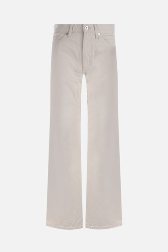 JIL SANDER: cropped wide-leg jeans Color Neutral_1