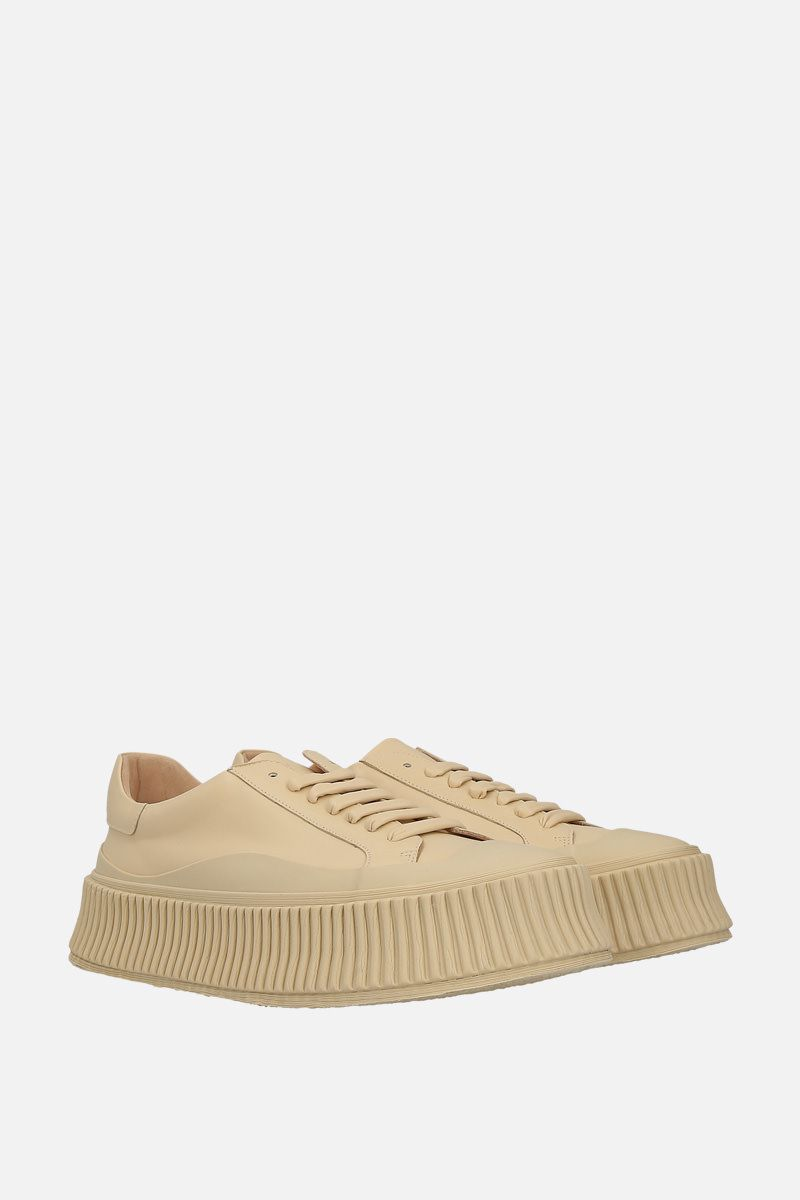 JIL SANDER: smooth leather and rubber low-top sneakers Color Neutral_2
