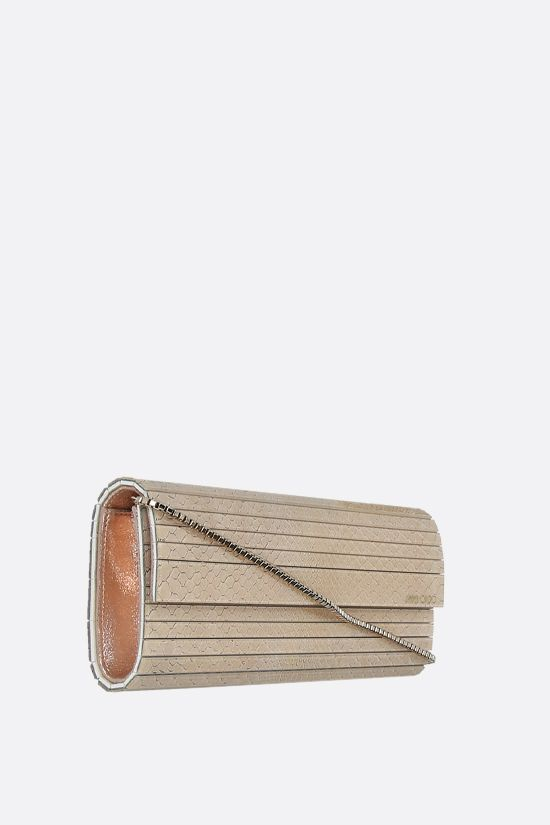 JIMMY CHOO: Sweetie acrylic python chain clutch Color Pink_2