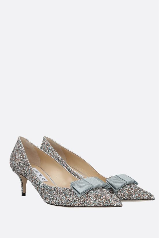 JIMMY CHOO: Ari glitter fabric pumps Color Silver_2