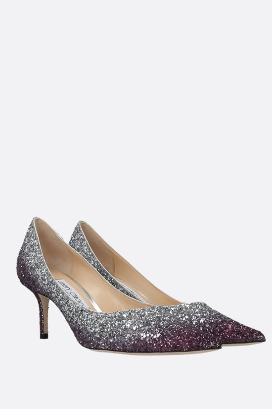 JIMMY CHOO: Love glitter fabric pumps Color Multicolor_2