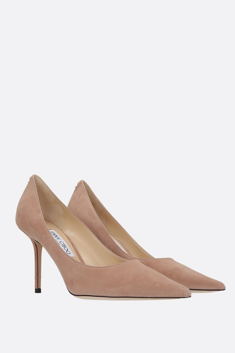 JIMMY CHOO: Love suede pumps Color Pink_2