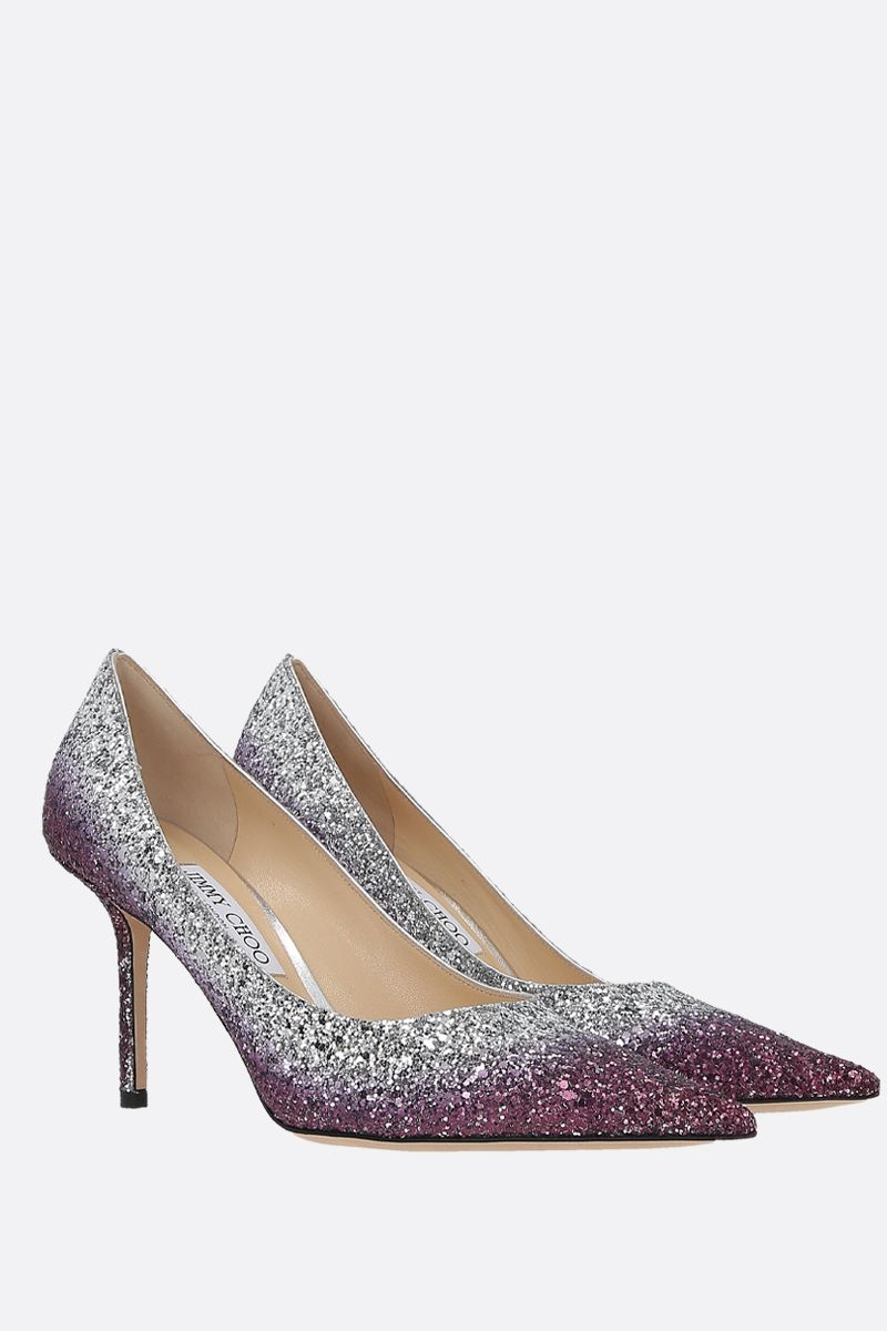 JIMMY CHOO: Love glitter fabric pumps_2