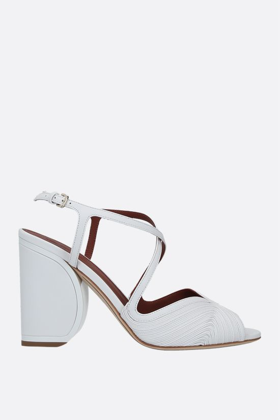 LORO PIANA: Calella quilted nappa sandals Color White_1