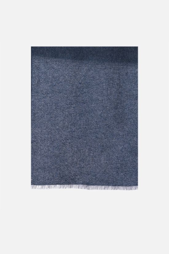 LORO PIANA: Golden Garza baby cashmere linen blend scarf Color Blue_1