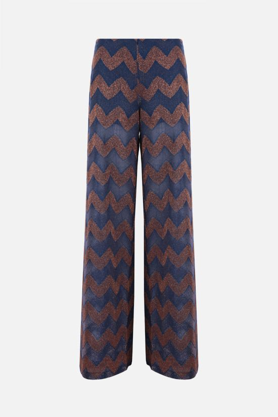 M MISSONI: wide-leg zigzag-motif lightweight pants Color Multicolor_1