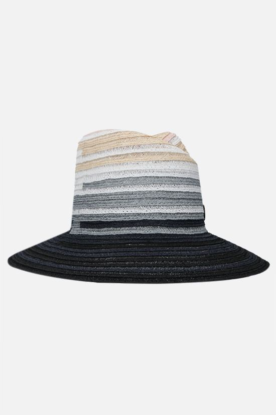 MAISON MICHEL: Virginie straw fedora hat Color Multicolor_2