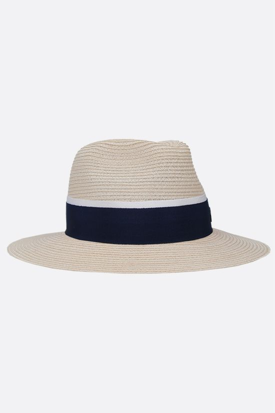 MAISON MICHEL: Andrè straw trilby hat Color Brown_2