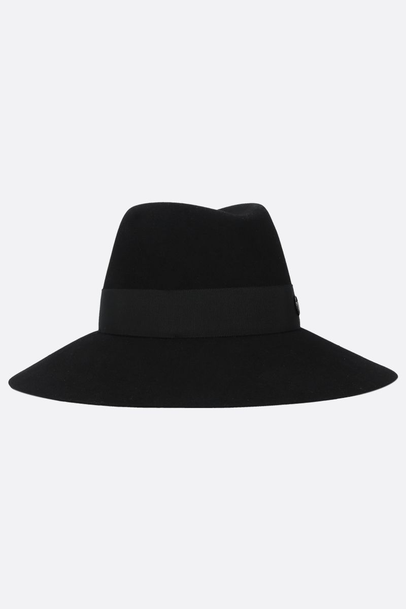 MAISON MICHEL: Kate felt fedora hat Color Black_2
