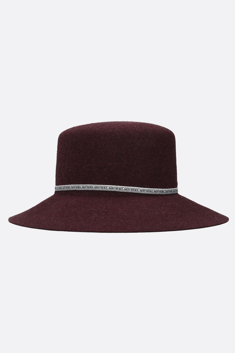 MAISON MICHEL: New Kendall rabbit felt bucket hat Color Red_2