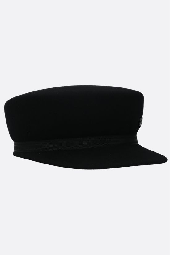 MAISON MICHEL: Abby wool felt sailor cap Color Black_2