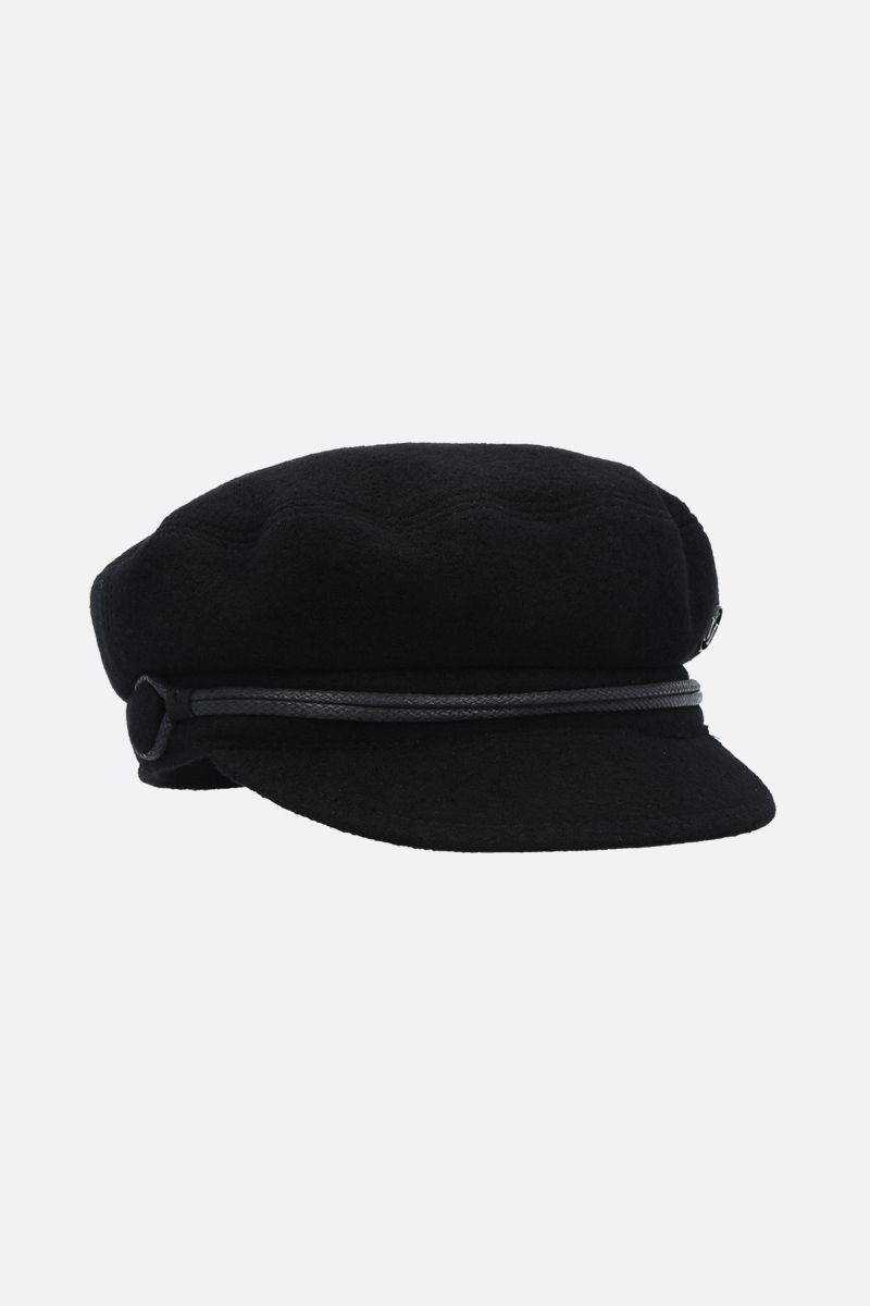 MAISON MICHEL: New Abby felt sailor cap Color Black_2